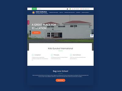 Website for kids gurukul css website redesign website design wordpress