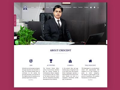 WordPress website for The Crescent School css website redesign website design wordpress