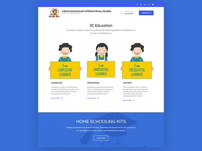 WordPress website for Vidhya Gurukulam css website redesign website design wordpress