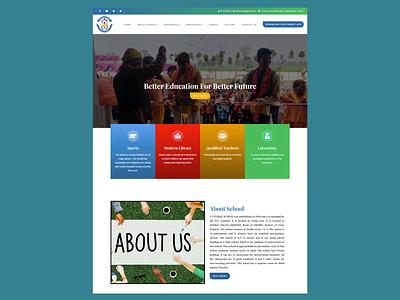 WordPress website for UP Public School css website redesign website design wordpress