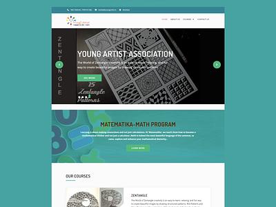 WordPress website for Young Artist School css website redesign website design wordpress