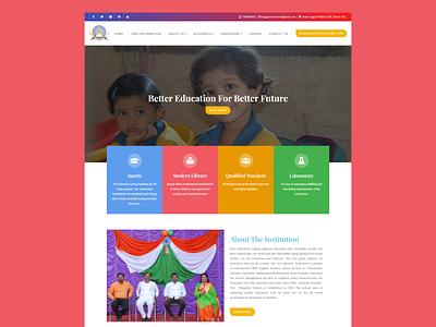 WordPress website for DG Agrawal School css website redesign website design wordpress