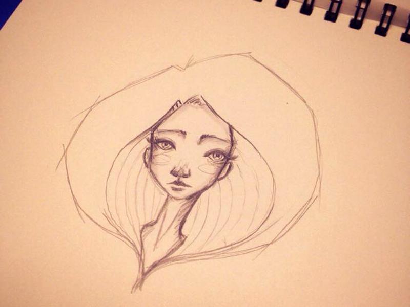 Quick sketches #mentalbreaks mental break doodle sketches handmade pencil drawing girl