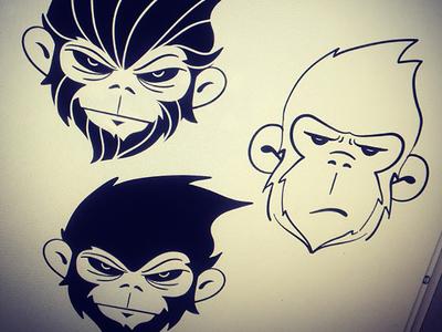 Monkey Concepts illustration doodle sketch sketches monkeys animal drawing illustrator