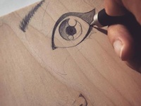 Sketching  on Wood