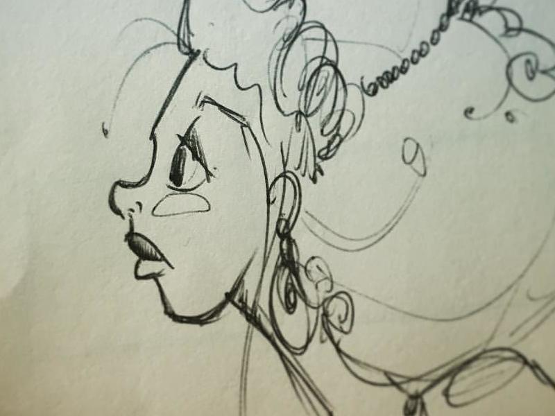 Super quick doodle illustration handdrawn pen ballpen sketch doodle