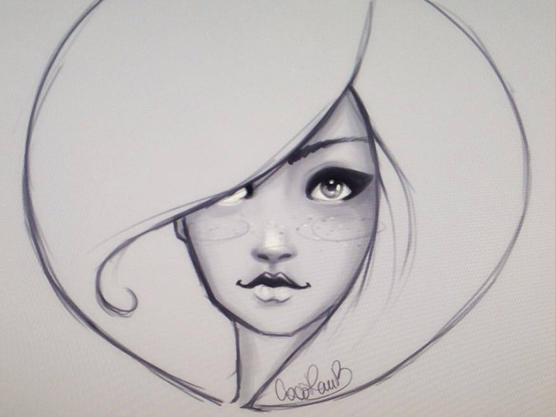 Sketching faces sketch eyes girl features doodle illustration photoshop face
