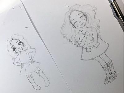 Sketching (cute little) Manuelita