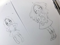Sketching (cute little) Manuelita