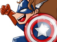 Fan Girl - Cap America
