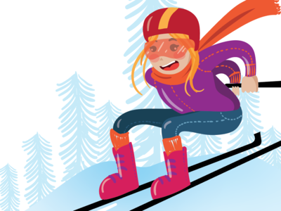 Skiing - test skiing doodle art sketch illustrator cc vector illustration vector