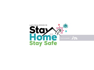 Stay Home, Stay Safe stay safe stay at home stay home stay safe coronavirus work from home fighting from home lets stop covid-19 self-quarantine covid-19 awareness covid-19 icon vector illustration concept aam3sixty aam360