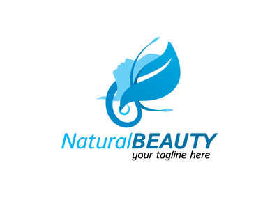 Natural Beauty Care Logo icon face beauty parlour plastic surgery center beauty care beauty natural