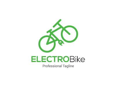 Electric bike electric energy bike icon bike logo power charge electro bike icon green electric bike bicycle