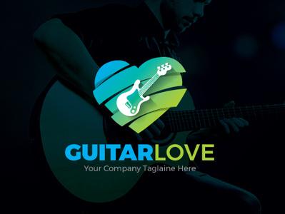 Guitar Lover Logo Template logo template icon app music note loves guitar guitar lover love guitar logo guitarist guitar music aam360 icon aam