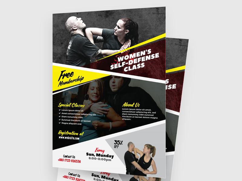 Self Defense Training Flyer