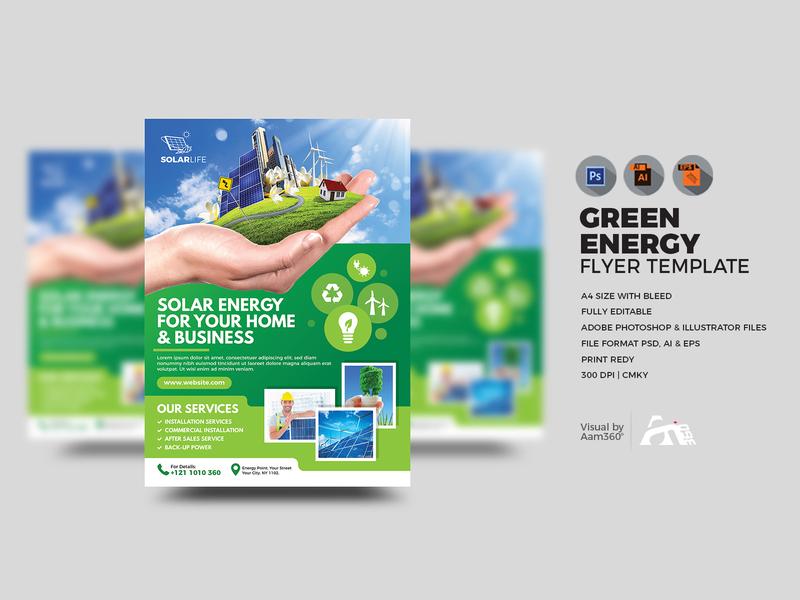 Green Energy Flyer Template