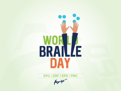 World Braille Day text sense see read louis language january illustration finger education disabled disability concept communicate braille blindness day 4 aam3sixty aam360