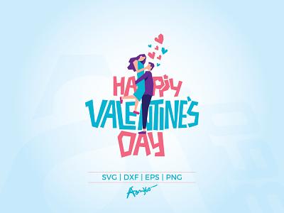Happy Valentine's Day art dance happiness typography character illustration hug honeymoon mom february aam3sixty aam360 couple date heart love day valentine happy valentines day happy
