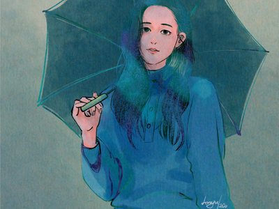Rain Days style procreat ipad drawing illustration illust girl illustration girl drawing girl digital illustration design color character