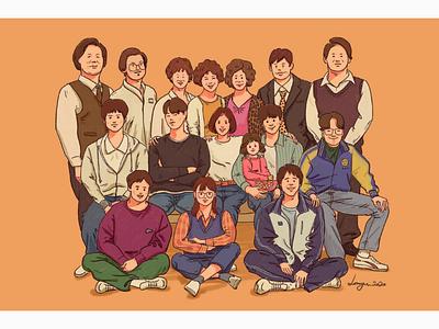 응답하라1988 style procreat ipad drawing design color character digital illustration illust illustration reply1988