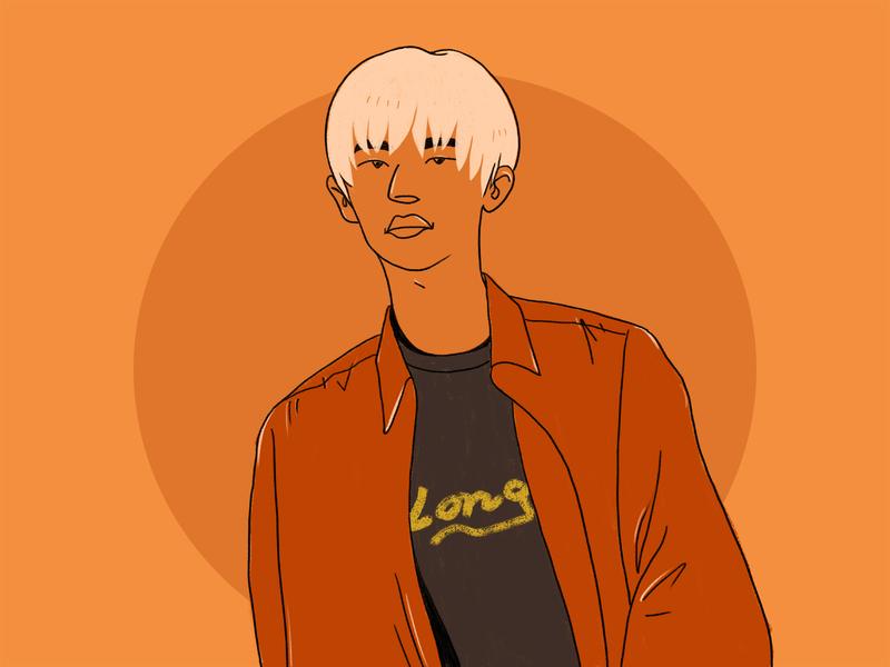R1se Vin portrait illustration sketch color drawing illustration character idol
