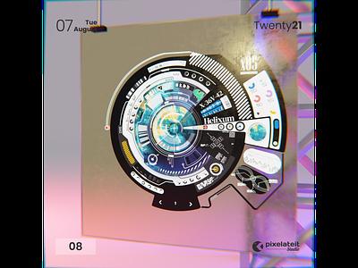 08 - Sci-Fi Space UI motion graphics branding vector illustration ui graphic design design