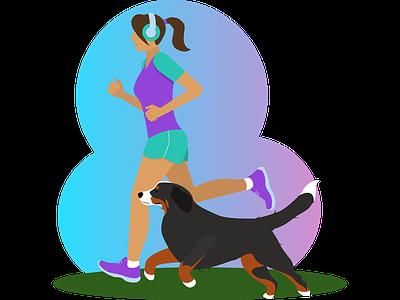 Running vector illustration