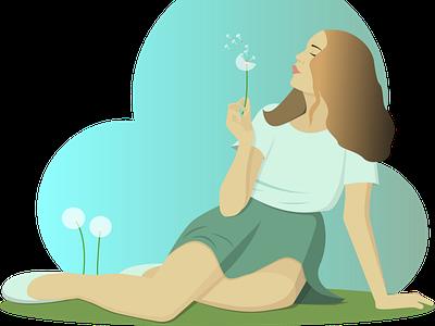 Flower girl vector illustration