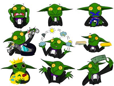 Stickers Goblin vector illustration