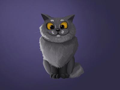 Fat cat illustration