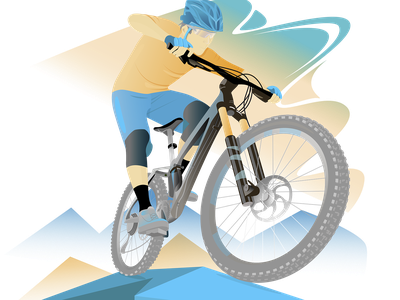 Ready to ride vector illustration