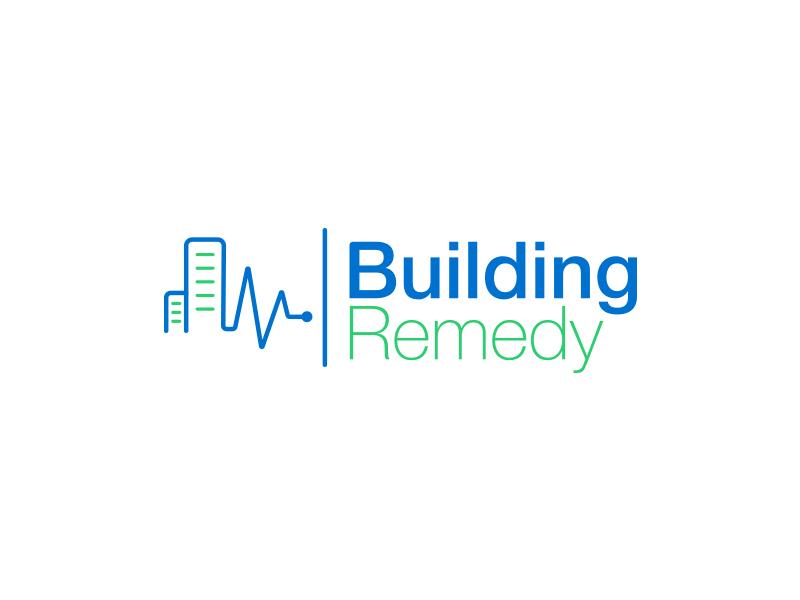 Building Remedy Logo hvac logo design automation pulse heath logo building