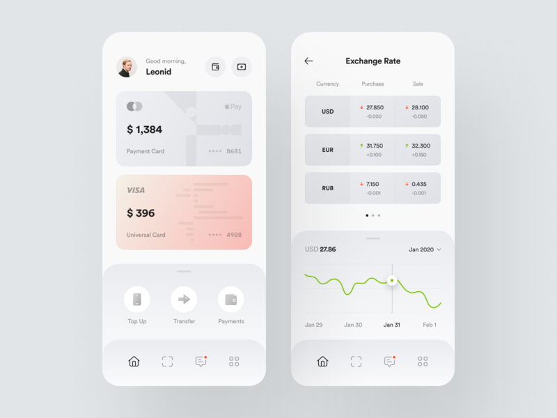 Privat24 – Mobile App #2 ios e-finance banking finance app finance financial services fintech mobile app credit card payment ux ui dashboard dark theme design system