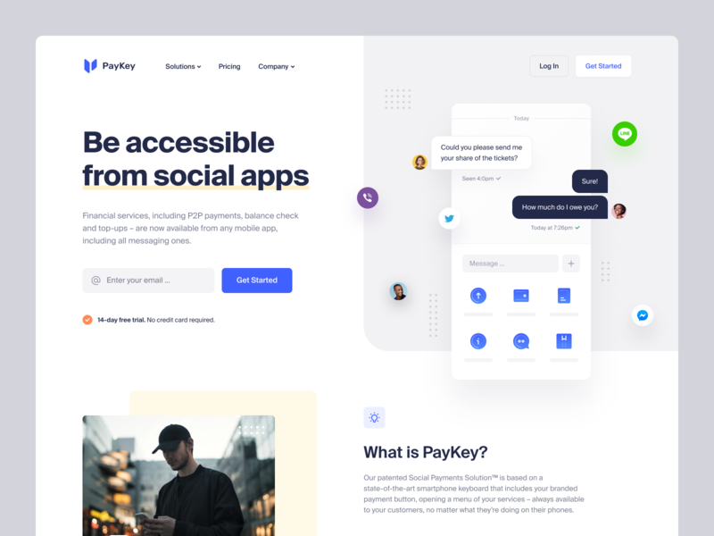 PayKey – Web Style Exploration social payments solution social app design system user interface e-finance financial services payment top up transfer web site web design fintech finance product page identity