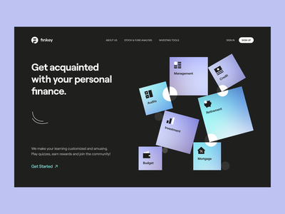 Finkey – Product Page visual identity identity typogaphy layout website web landing page product page