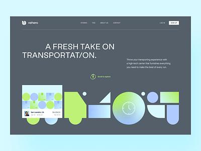 Vehero - Website Exploration web user experience web design website product design ui design interface branding colors user inteface