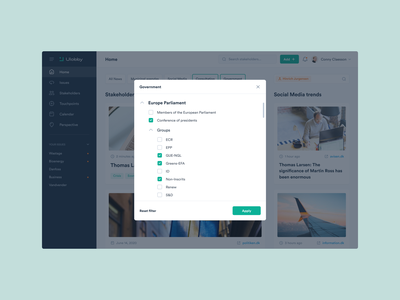 Ulobby – Product Cards + Inner Pages platfrom public affairs user interface web saas product design layout design system ui ux user experience dashboard web design