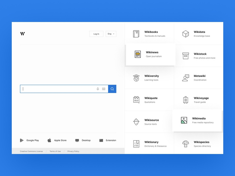 Wikipedia org by Max Panchyk for Heartbeat Agency on Dribbble