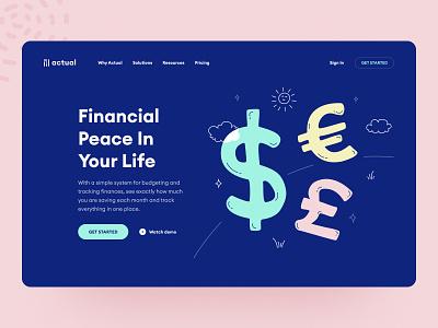 Finance tracker spending balance ui ux design system fintech startup web design budget microfinance finance app fintech