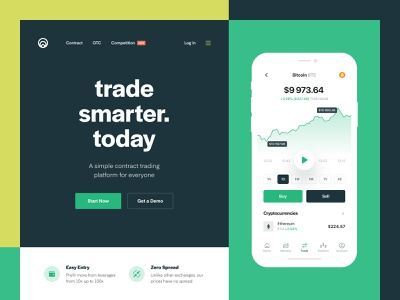 Financial investment tool web design mobile ios web product page chart ux ui currency investment ethereum bitcoin blockchain crypto cryptocurrency trading contract trading fintech finance