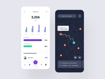 H-care – Medical App #2 design system saas interface dashboard overview hospital emergency room healthcare app ux ui saas medtech startup electronic health patient medical app toglas