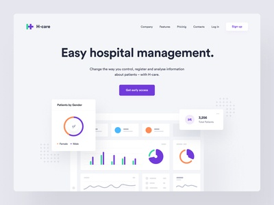H-care – Landing page