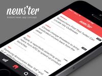 News'ter - an instant news app concept