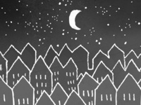 Sleepy Night Town - Half Moon