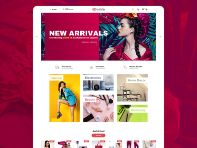 Project Layuva minimal ui uiux userinterface website onlineshopping online shop