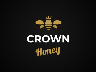 Crown Honey Logo branding vector design crown honey crown honey logo design logo
