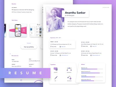 Resume design designer cv portfolio design curriculum vitae layout cv resume