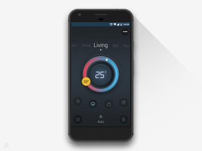 Air-Conditioner remote - UI concept neumorphic neumorphic design concept ui remote ac mobile android app ui pixel