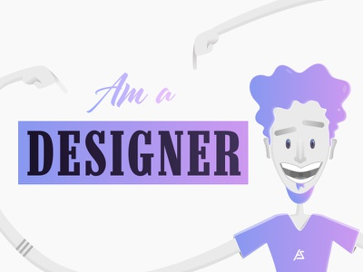 Yea ! am a Designer designer minimal digital art illustration